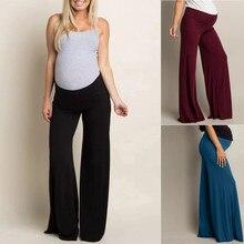 Женские с высокой талией брюки для беременных удобные лосины для беременных ropa premama embarazadas