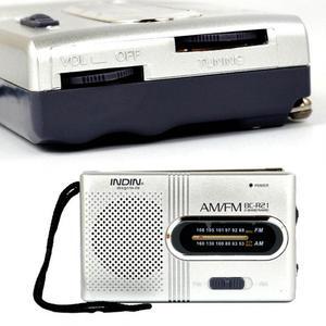 Image 5 - Mini Portable AM/FM Radio Telescopic Antenna Radio Pocket World Receiver Speaker Portable Radio Outdoor Silver Color