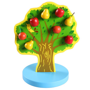 Image 3 - Montessori Wooden Magnetic Apple Pear Tree Math Toys Early Learning Educational Wooden Toys for Children Boys Birthday Gifts