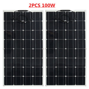 Image 2 - 300w solar panel 3pcs of 100w panel solar Monocrystalline solar cell 12v solar battery charger for RV/boat/car