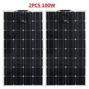 Image 2 - Panel solar monocristalino para RV/barco/coche, cargador de batería solar de 12v, 300w, 3 uds.