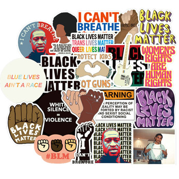 50PCS Black Lives Matter Stickers Decal For Stationery Laptop PS4 Suitcase Skateboard Motorcycle Guitar Waterproof Sticker - discount item  50% OFF Classic Toys