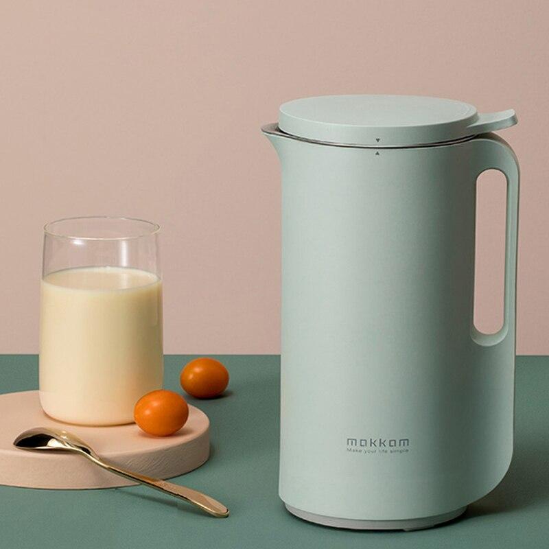 Multifunction Soymilk Machine Mini Juicer Automatic Heating Soya-Bean Milk Juicer Stir Rice Paste Maker Filter-free 350ml 220V