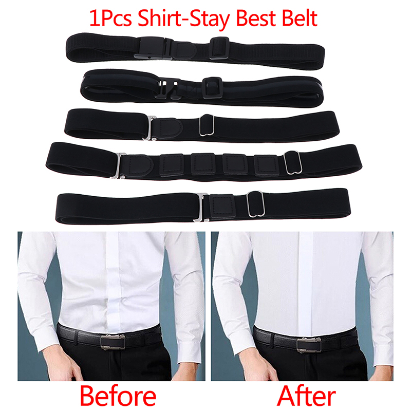 Two Belts AvailableEasy Shirt Stay Adjustable Belt Non-slip Wrinkle-Proof Shirt Holder Straps Locking Belt Holder