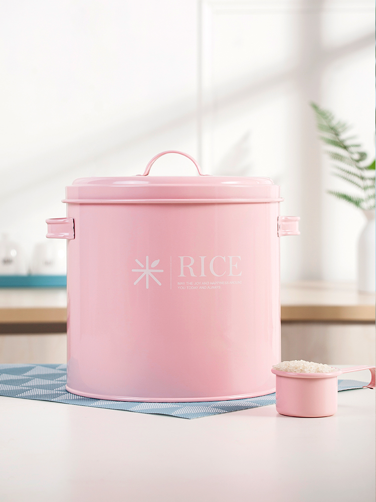 Sealed Rice Storage Bucket Moisture-proof Insect-proof Sunscreen Flour Bucket Container Cereal Bean Flour Tank Kitchen Supplies