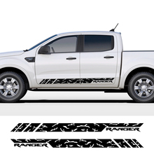 2 Pieces Stripe Design Car Door Vinyl Stickers For Ford Ranger, Body Decoration Stickers, Racing Accessories