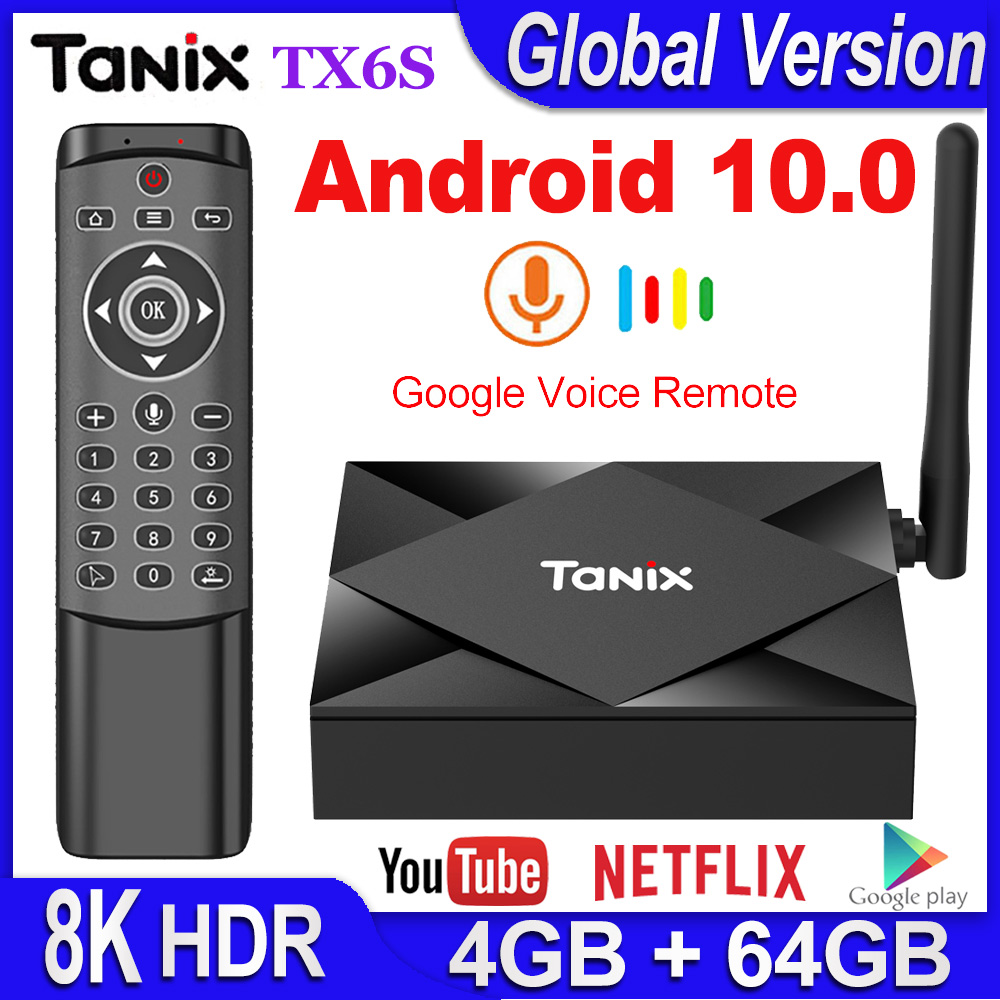 Tanix TX6S Android 10.0 Smart TV BOX 4GB RAM 32GB 64GB Allwinner H616 Quad Core TVBox H.265 4K Media Player 2GB 8GB Pk Tanix TX6