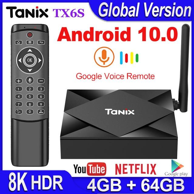 Tanix TX6S Android 10.0 Smart TV BOX 4GB RAM 32GB 64GB Allwinner H616 Quad Core TVBox H.265 4K Media player 2GB 8GB pk Tanix TX6