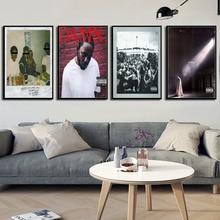 Kendrick Lamar Humble Hot álbumes de música cubierta Hip Hop Rap música estrella arte pintura seda lienzo póster pared hogar decoración sin marco o429