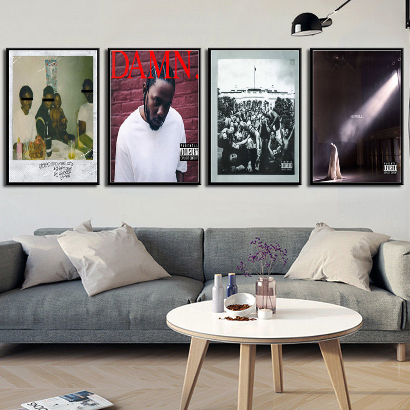 Kendrick Lamar DAMN Humble Hot Music Albums Cover Hip Hop Rap Music Star Art Painting Silk Canvas Poster Wall Home Decor No Frame o429 image