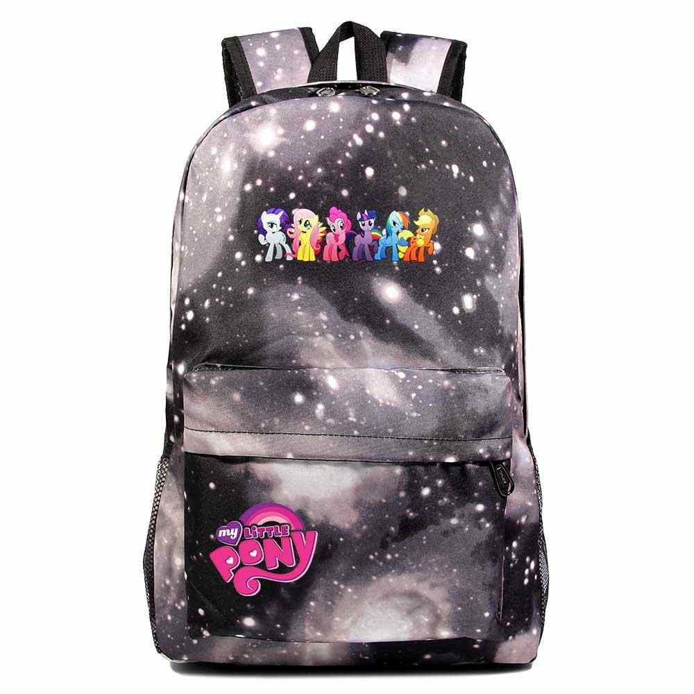 Moda Cartoon Cutie mój kucyk Little Pony chłopiec dziewczyna książka torba szkolna kobiety plecak nastolatki torby szkolne mężczyźni uczeń plecak