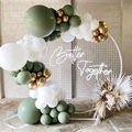 94 шт. авокадо зеленый цвет микс хром золото латексные воздушные шары-гирлянды набор Арка цепь Джунгли Тема Свадьба вечеринка украшения дома