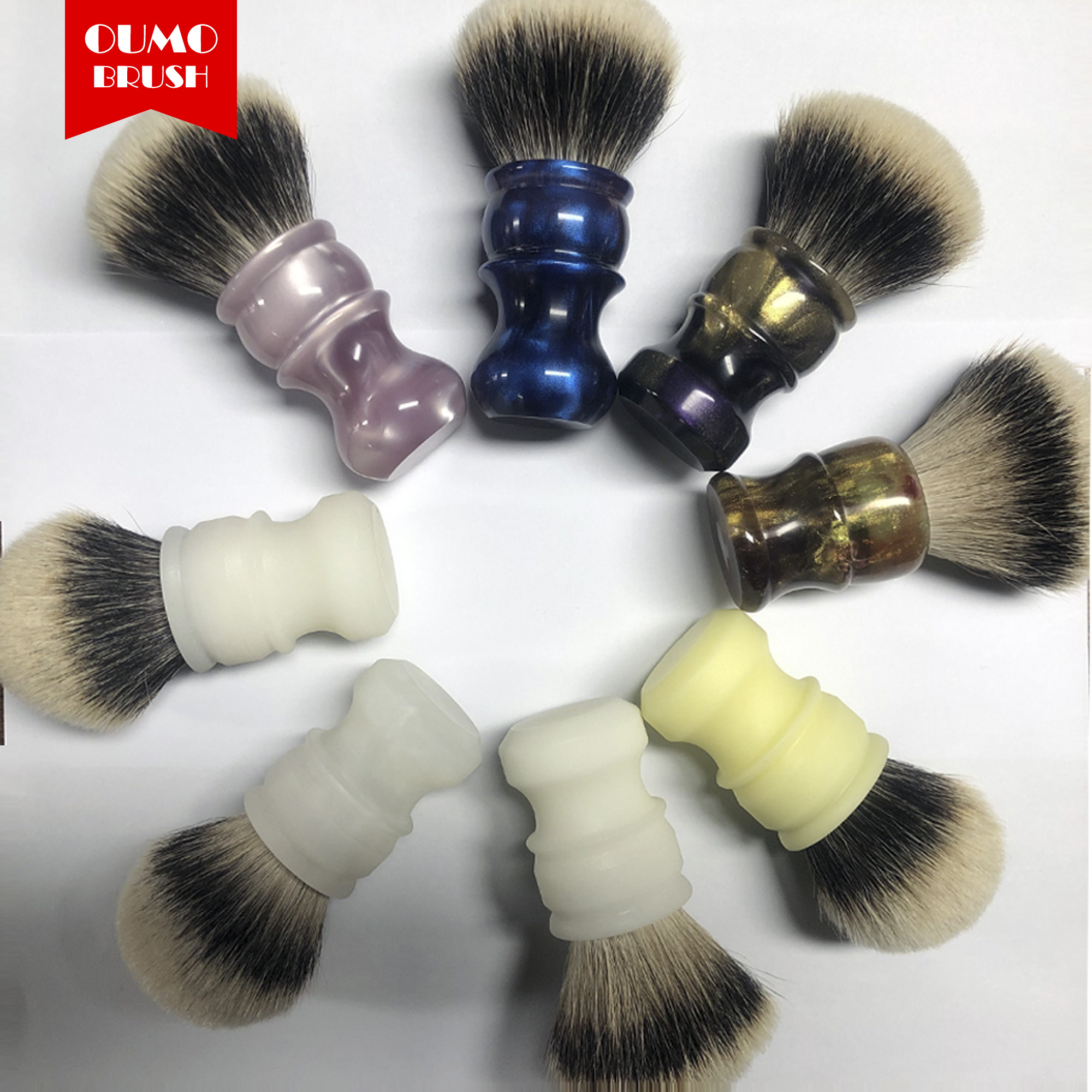 OUMO BRUSH-promotion Handmade Shaving Brush With Silk HMW And Manchuria Knot