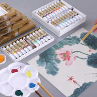 12/18/24/36 Colors 5/12ML Chinese Painting Pigment Watercolor Paint Set Art Set Drawing Tools For Artist Students Art supplies