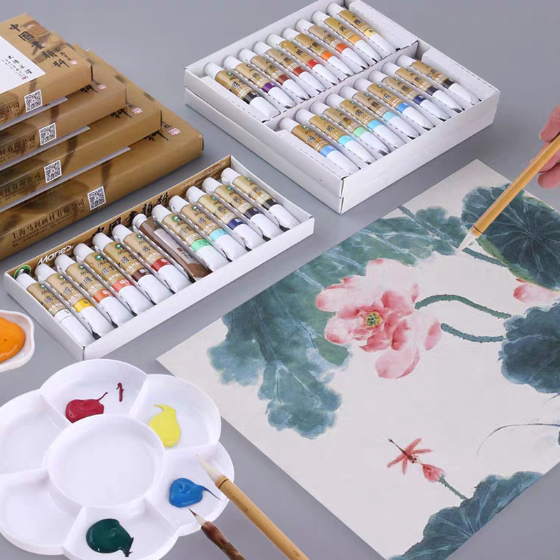 Conjunto de 12/18/24/36 colores, 5/12ML, juego de pintura de acuarela de pigmento chino, herramientas de dibujo artístico para estudiantes de arte 1 Uds., arcoíris, fruta, banderas, cinta de corrección decorativa, decoración Kawaii, suministros escolares de oficina