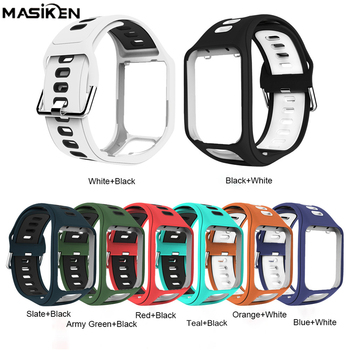 TPE Wristband Strap Bracelet for Tom Tom Runner 2/3 Series for Tom Tom Spark Golfer 2 / 2SE Adventurer Replacement Watch Band фото
