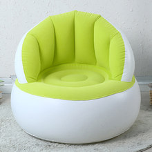 Kids Flocking Chair Pouf with Backrest Inflatable Soft Sofa for Kids J99 Store(China)