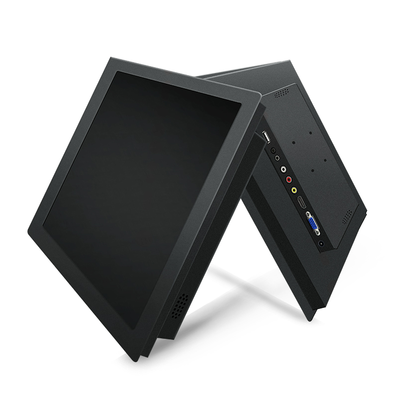 15 Inch PC Display Desktop <font><b>LCD</b></font> Screen Monitor of Tablet VGA HDMI DVI USB 1024*768 Resistance Touch Screen Buckles Mounting image