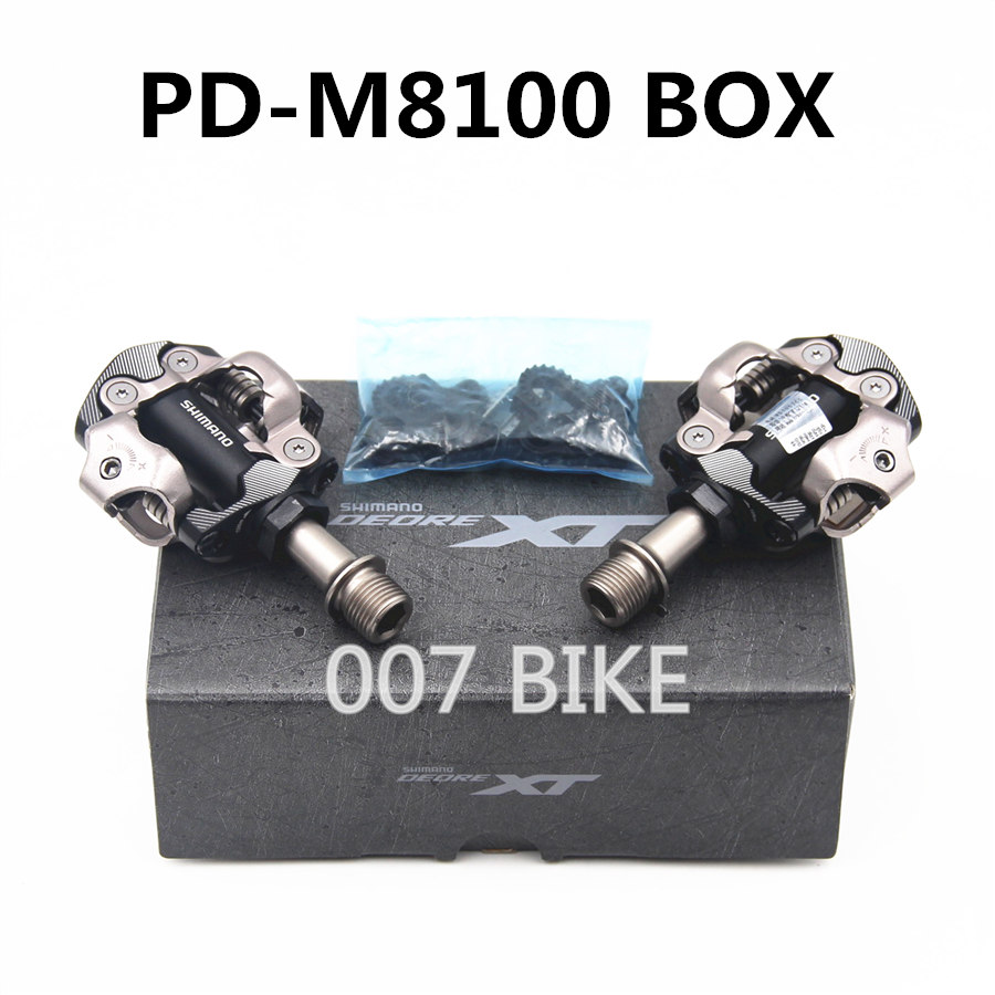 Shimano Deore XT PD-M8100 SPD MTB Mountain Bike Clipless Pedals /& Cleats M8100