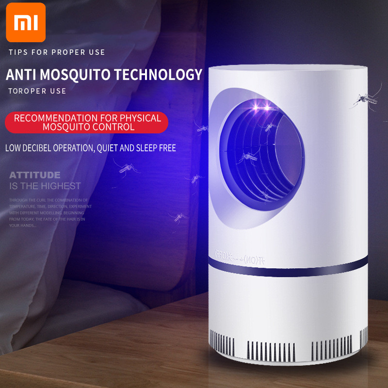 Xiaomi Mosquito Killer Lamp New Home Bedroom USB Fly Killer Mosquito Repellent LED Light Mute Photocatalyst Mosquito Trap Lamp