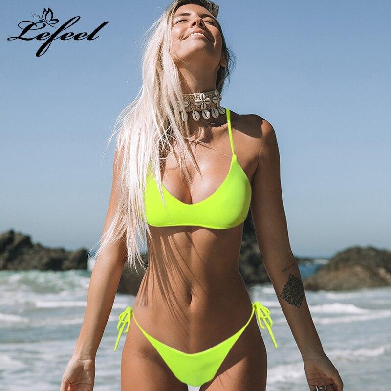Sexy Low Waist Solid Bikini Set Women Bandage Brazilian Bikinis Swimwear Summer Tube Top Bathing Suit Female Swimsuit Biquini