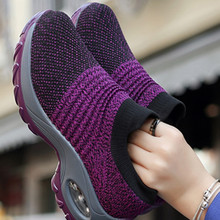 Sneakers Platform Sport-Shoes Comfortable Slip-On Casual Fashion Women's Outdoor Flat
