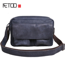 AETOO Vintage leather men's bag, one-shoulder men's