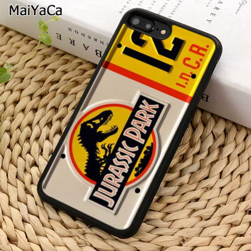 MaiYaCa Coque Jurassic Park Capa plate iPhone 5 용 전화 케이스 6S 7 8 plus 11 Pro X XR XS Max 삼성 갤럭시 S7 S8 S9 S10