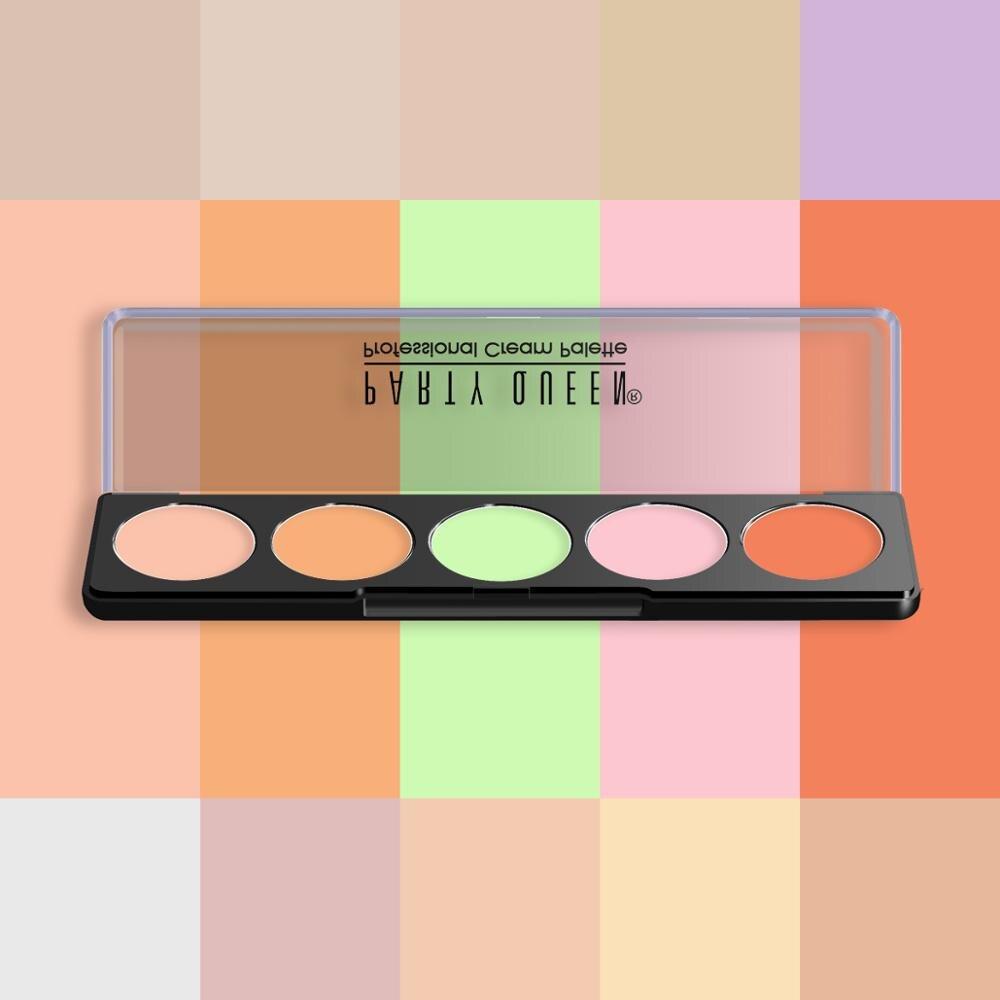 6 pcs lote 5 cor corretivo creme contorno cobertura completa rosto maquiagem facial olho escuro circulo