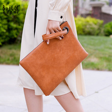 Vintage Solid Women's Clutch Bag PU Leather Women Envelope Bag Clutch Evening Bag Female Clutches Handbag bolsa feminina Purse brown leather look solid color clutch bag