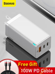 Baseus Fast-Charger Support AFC Gan Usb Us-Plug Xiaomi PD3.0 iPhone 11 Samsung S10 Qc-3.0