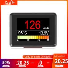 A203 OBD2 Coolant Temperature Gauge Diagnostic Tool Scanner Tachometer Speedometer Fuel Computer On Board Car Computer OBD 2
