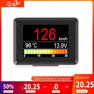 Image 1 - A203 OBD2 Coolant Temperature Gauge Diagnostic Tool Scanner Tachometer Speedometer Fuel Computer On Board Car Computer OBD 2