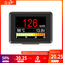 A203 OBD2 حرارة المبرد مقياس أداة تشخيص الماسح الضوئي مقياس سرعة الدوران عداد السرعة الوقود الكمبيوتر على متن سيارة الكمبيوتر OBD 2
