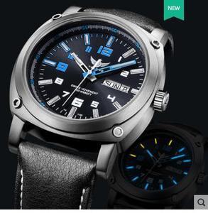 Image 1 - Yelang גברים אוטומטי שעון טריטיום אור T100 טיטניום מקרה שוויץ תנועה 26 תכשיטים WR200M ספיר מכאני Diver