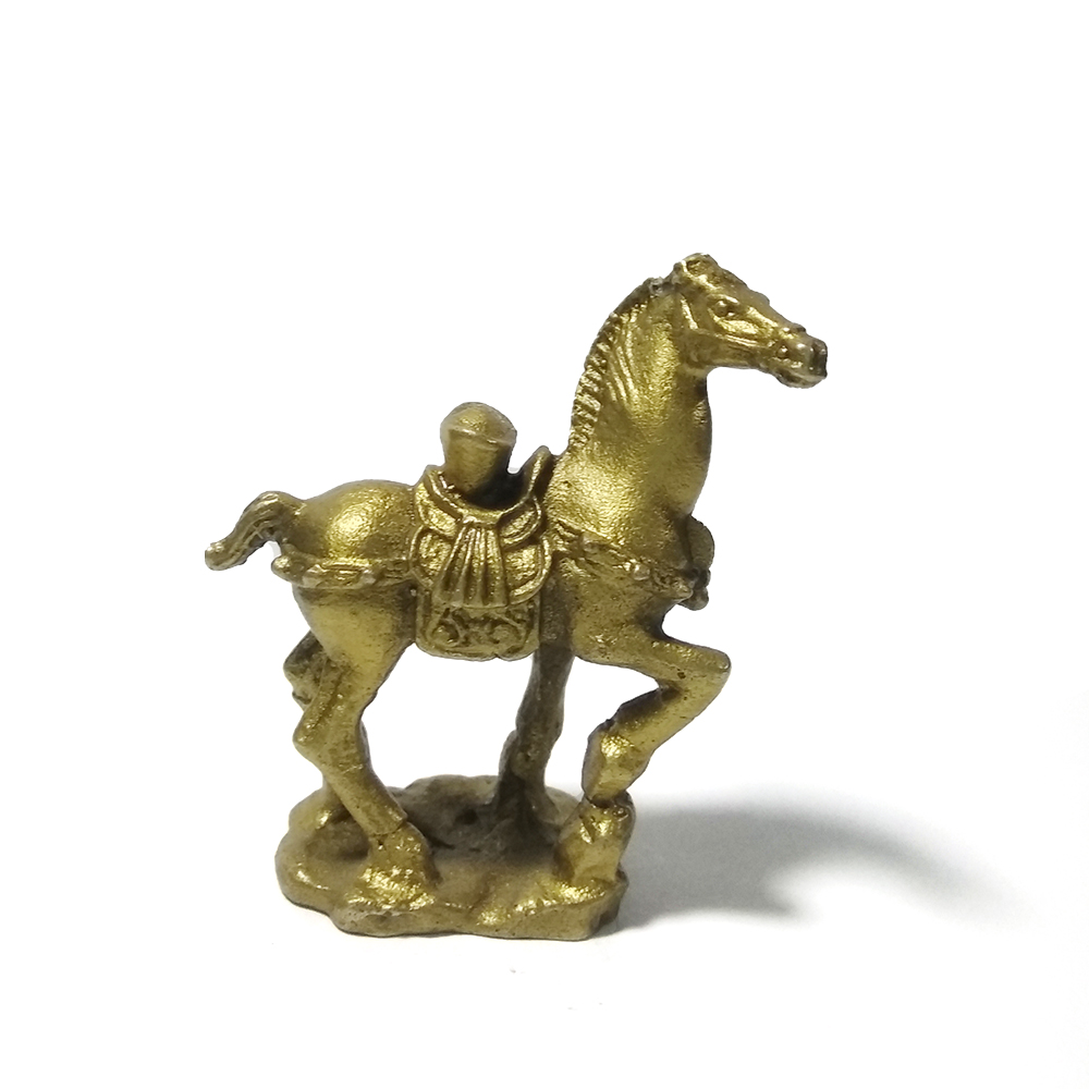 LAOJUNLU Pure Copper Horse Carrying Yuanbao Ingots Immediately Have Money  Get Rich Metal Crafts Chinese Feng Shui Ornaments