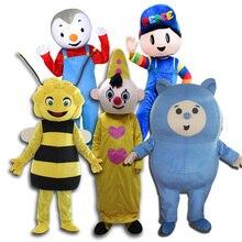 Heißer verkauf Bumba maskottchen kostüme Bam Bam maya Bee Tchoupi PEPEE maskottchen kostüm für erwachsene größe Für Halloween Karneval party