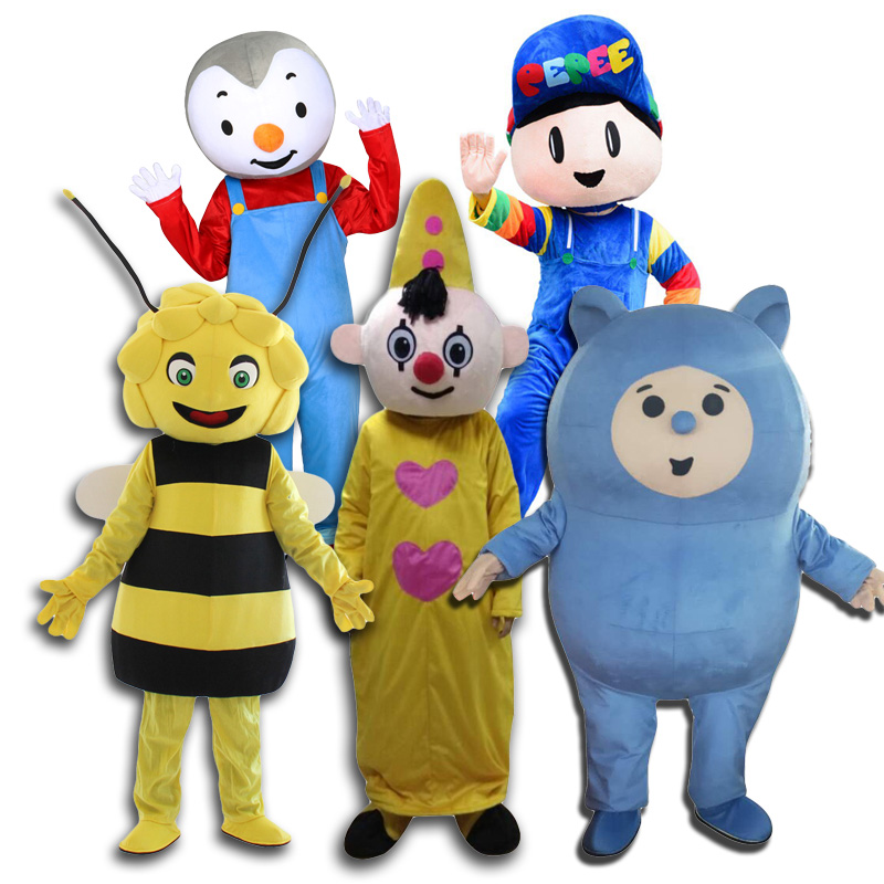 Hot Selling Bumba Mascot Costumes Bam Bam Maya Bee Tchoupi PEPEE Mascot Costume For Adult Size For Halloween Carnival Party