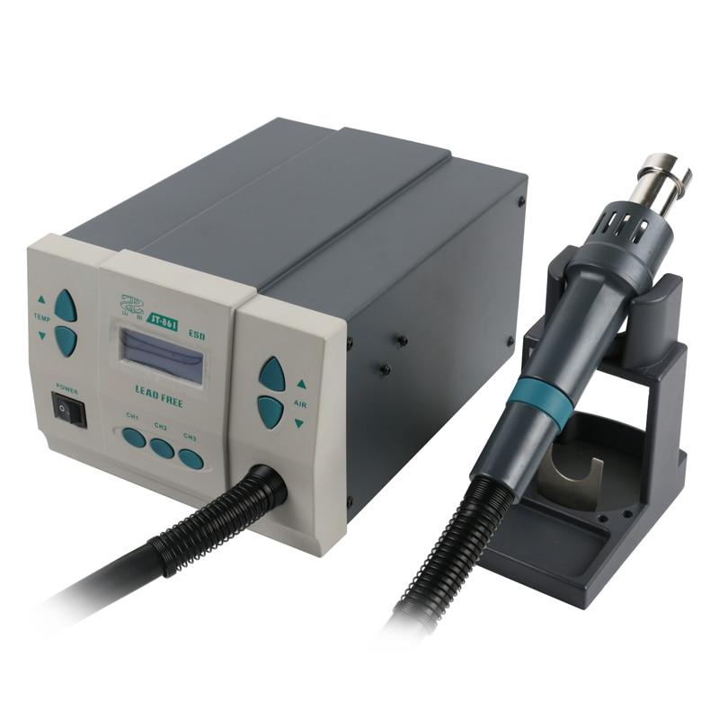Tools : ST-861 Lead-free Adjustable Hot Air Gun Rework Station Soldering 1000W 220V For Phone CPU Chip Repair Same QUICK 861DW