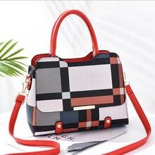 New High Fashion Shoulder Bag Ladies Handbags Womens Pu Leather Crossbody Bags Casual Tote Plaid Female Design