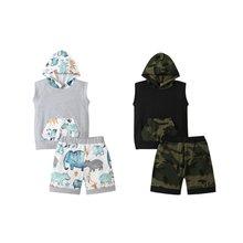 Для малышей Одежда для маленьких мальчиков камуфляжной расцветки