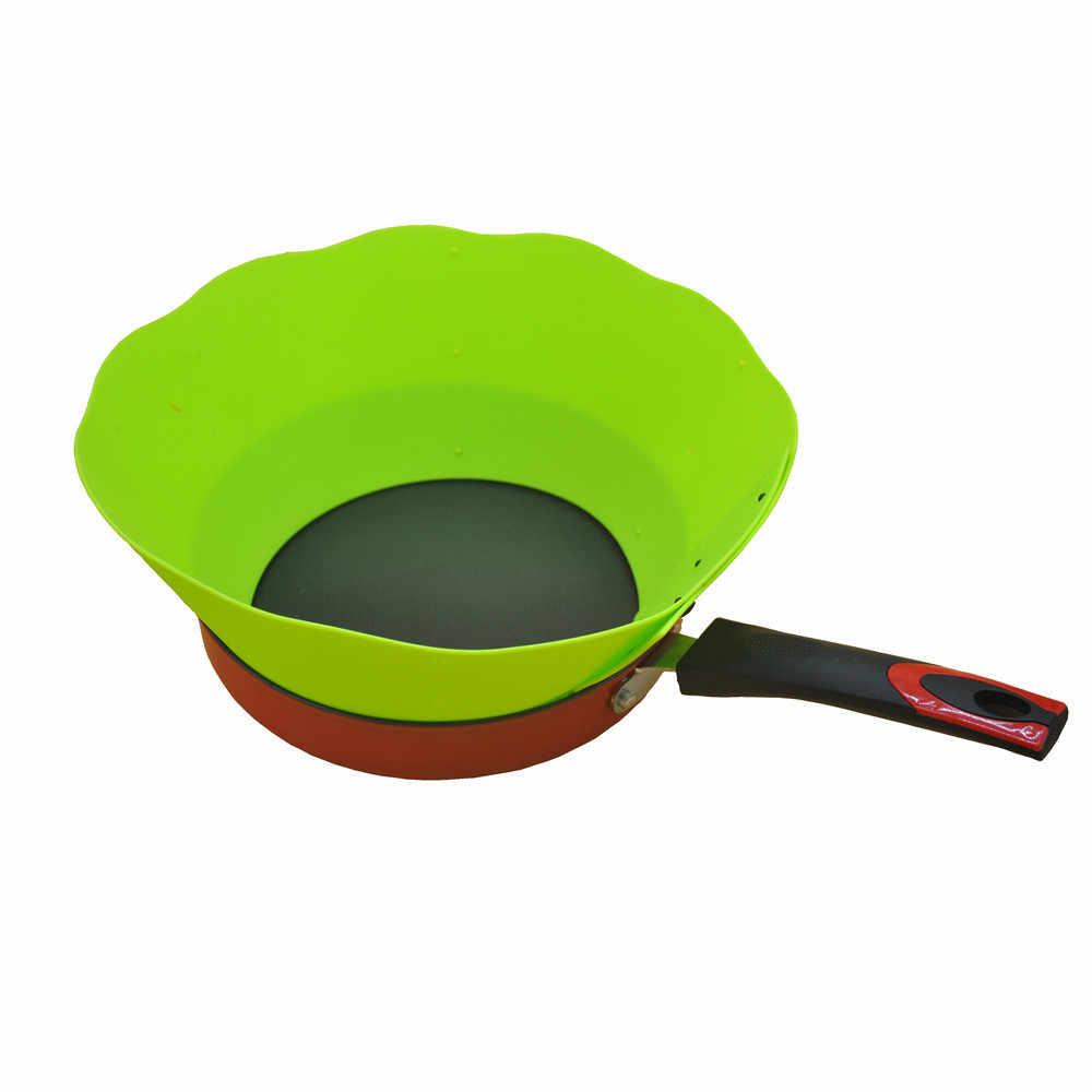 قابل للتعديل حاجز النفط الطبخ وعاء سيليكون دائرة مكافحة الرش النفط يربك أداة المطبخ
