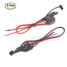 Foxsur 12V Charger Cable for Motorcycle Battery Terminal To SAE Quick Disconnect Cable Motorcycle Battery Output Connector foxsur universal car battery quick pull connector switch battery clip battery head terminal detachable positive negative