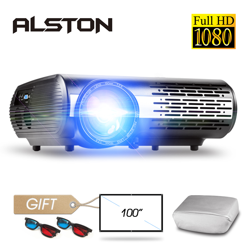 ALSTON M2/M2W FULL HD 1080P LED Projector Home Beamer Optional Android Version WIFI HDMI USB VGA Bluetooth with gift 1