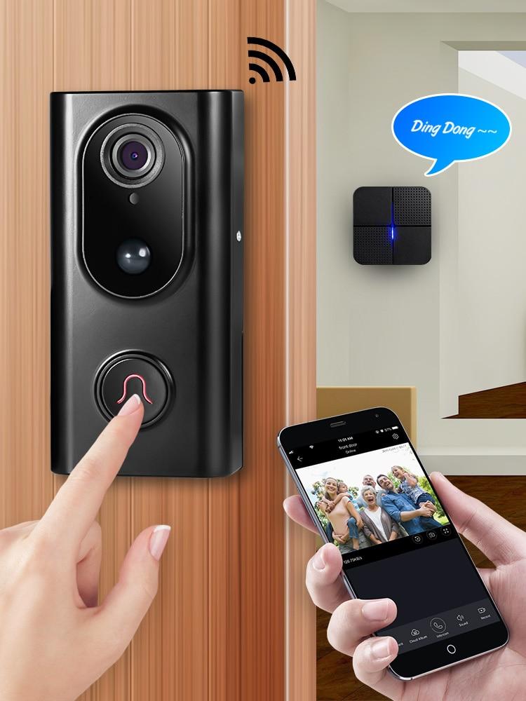 KERUI Wifi Doorbell Intercom-System Audio-Visible Night-Vision Wireless Two-Way Video