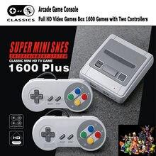 4K de HD TV consola de juegos Retro Mini portátil de 64 bits para Super Nintendo MD construido en 1600 juego de controlador de juegos de regalo portátil