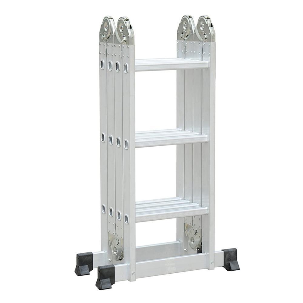 4x3/4x4 90cm/120cm Multifunctional Folding Ladder Aluminum Telescopic Ladder For Industrial Or Household