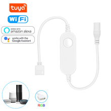 Tuya WiFi Smart LED Strip Light Contoller 4 Pin RGB DC 5-24V Voice Control Connect controller Work with Alexa Echo, Google Home