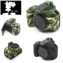 Armadura de silicone capa protetora do corpo para câmera digital nikon d5500 d5600