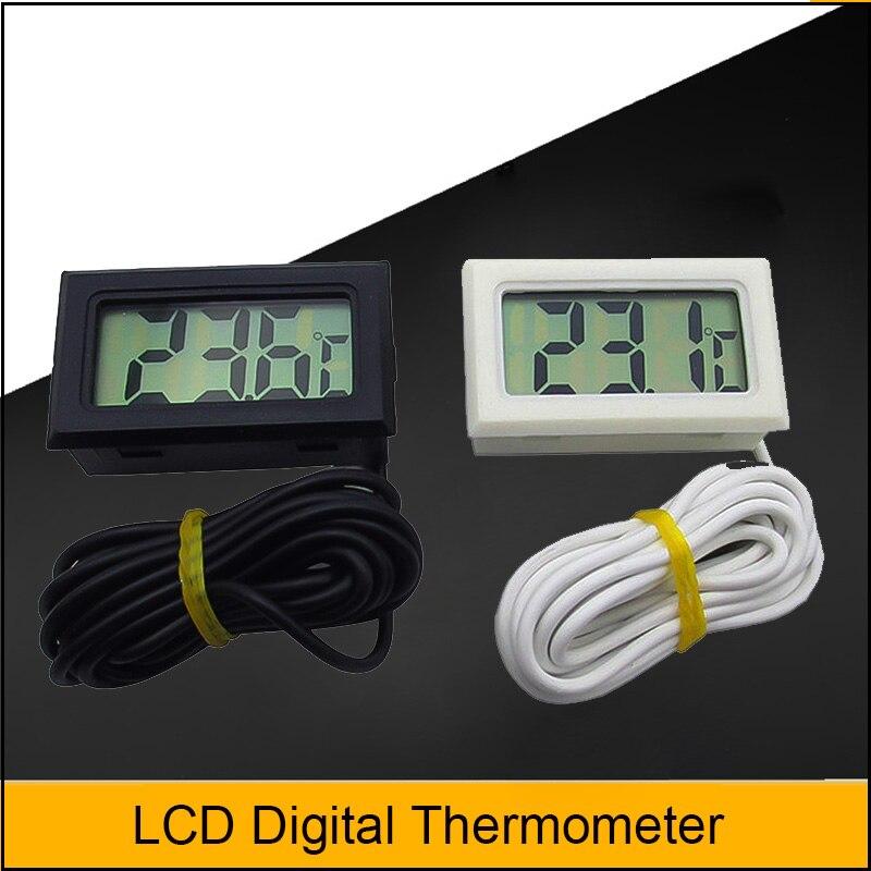 1 pçs lcd termômetro digital à prova dwaterproof água aquário termômetro 2 segundos sensor digital estação meteorológica|Instrumentos de temperatura|   -